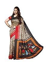 Bhavi Printed Sanganeri Silk Saree Exclusive Foil Print