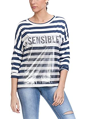 Tantra Longsleeve Long Stripped With Lurex And Rpint Words