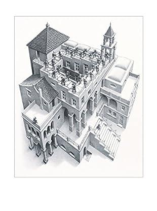 ArtopWeb Panel de Madera Escher Ascending And Descending, 1960 41X52