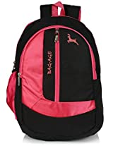 Bag-Age Zuma 30 Large School Backpack (Black Pink)