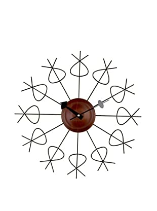 George Nelson Pretzel Clock, Black/Brown
