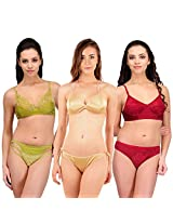 Urbaano Multi HINA Bridal Set-URM0907T-Maroon , Green , Gold (36)