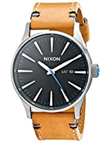 Nixon Men's A1051602 Sentry Leather Watch