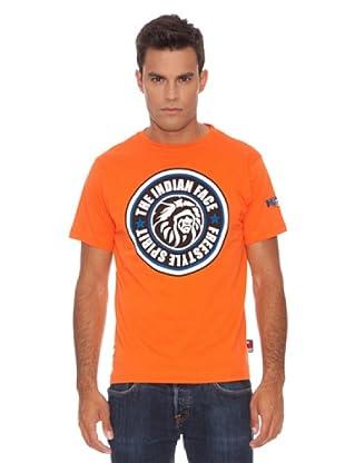 The Indian Face Camiseta Clásica (Naranja)