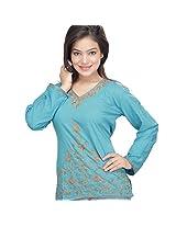 Ghasitaram Blue 1367 Kashmiri Kurti