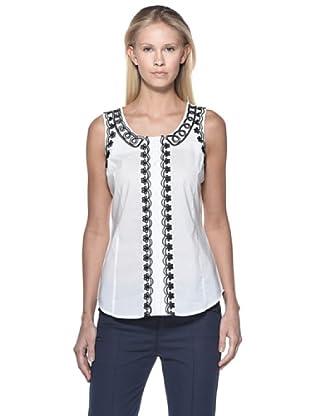 Love Moschino Camisa Grecas (Blanco)
