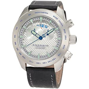 Android Men's AD461BSL  Maxjet Chronograph Blue Dial Leather Watch