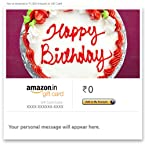 Happy Birthday (Cream Cake) - E-mail Amazon.in Gift Card