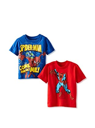 Freeze Boy's Spiderman 2-Pack T-Shirt Bundle (Royal/Red)