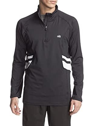 alo Men's Training Half-Zip Pullover (Black/White)