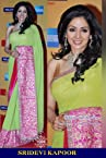 Sridevi Kapoor Bollywood Replica Green and Pink 60gm Georgette Saree