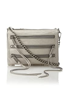 Rebecca Minkoff Women's Carmen Mini Zip Shoulder Bag, Dove