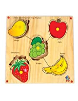 Skillofun Junior Identification Tray Fruits I with Knobs, Multi Color