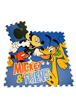 Juego Alfombra Puzzle En Eva 9 Piezas Mickey Mouse 90 x 90