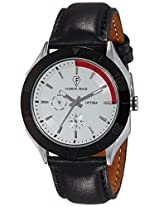 Optima Analog White Dial Men's Watch - OFT-2435 WH