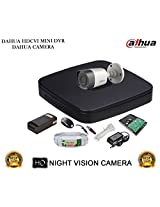 DAHUA HDCVI 4CH DH-HCVR4104C-S2 DVR + DAHUA HDCVI DH-HAC-HFW1000RP BULLET CAMERA 1Pcs + 1 TB WD HDD + 3+1 COPPER CABLE + POWER SUPPLY (FULL COMBO)