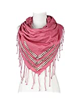 Vozaf Women's Viscose Stoles & Scarves - Pink