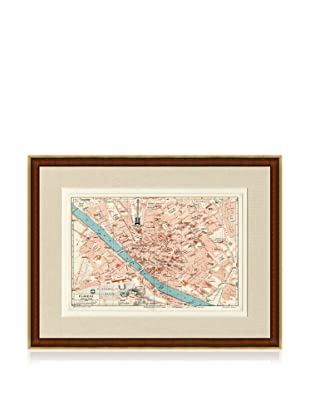 Antique Florence 1890's Map