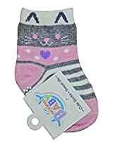 Baby Socks - Unisex - (3 months& above) Grey Pink