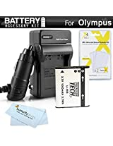 Battery And Charger Kit For Olympus Stylus SZ-15 SZ-16 iHS TG-630 iHS TG-830 iHS Tough TG-850 iHS Digital Camera Includes Extended Replacement (1000Mah) LI-50B Battery + Ac/Dc Rapid Travel Charger + MicroFiber Cloth + More