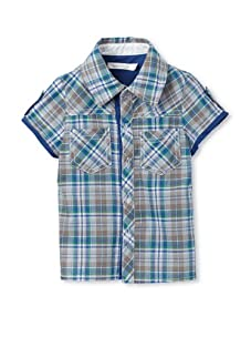TroiZenfantS Baby Plaid Shirt (Blue)