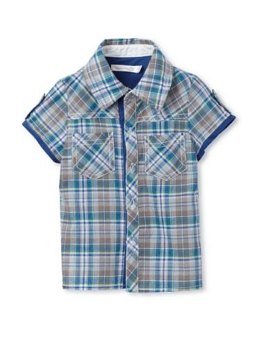 TroiZenfantS Baby Plaid Shirt (Blue)