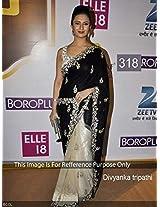 Divyanka Tripathi Awesome Designer Half Half Concept Saree