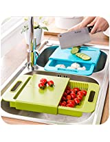 House of Quirk Chopping Cutting Board With Drawer Style Multi-function kitchenware