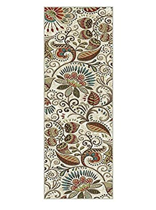 Universal Rugs Capri Transitional Runner, Ivory, 2' x 8'