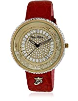 H Ph13575jsg/22C Red/Golden Analog Watch Paris Hilton