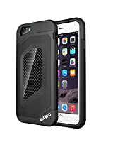 Iphone 6 Case - WAWO Full Protection Carbon Fiber Patch Case for Apple Iphone 6 4.7 Inch (Black)