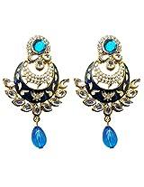 Dhwani Creation Drop Alloy Earrings For Girls and Women (Blue)