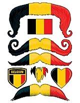 StacheTATS Belgium Temporary Mustache Tattoos