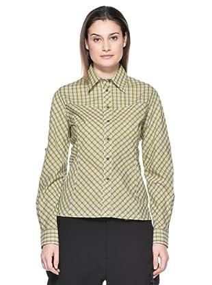 Salewa Camisa Angel Spo Dry W (Gris / Verde)