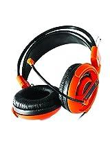E-Blue Cobra Professional Gaming Music Headphone/Headset EHS013 with Mic (Orange)