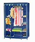 PINDIA FANCY & FOLDABLE MULTI LAYER BLUE STORAGE WARDROBE ALMIRAH