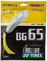 Yonex BG 65 Lin Dan Special Badminton Strings, 0.70mm (Bright Yellow)