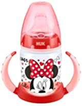 NUK 150ml Disney First Choice Learner Bottle with Non-Spill Silicone Spout (Red)