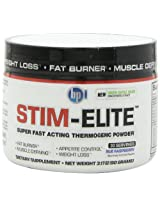 BPI Sports Stim Elite Diet Supplement, Blue Raspberry, 90 Gram
