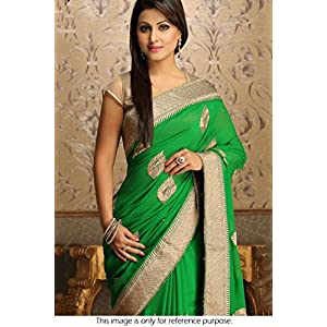 Bollywood Style Hina Khan Georgette Saree In Green Colour NC714