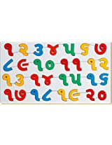 Little Genius Gujarati Counting (1 to 20), Multi Color