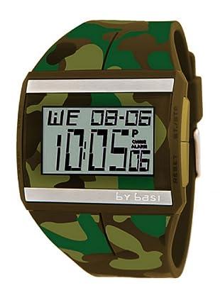 BY BASI A0881U03 - Reloj Unisex movi cuarzo correa policarbonato verde