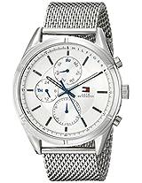 Tommy Hilfiger Men's 1791128 Sport Lux Analog Display Quartz Silver Watch