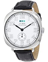 La Mer Collections Women's LMOVW2031 Black Silver Oversized Vintage Watch