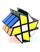 YJ Windmill Cube Black 3x3x3 Shape Mod Twisty Puzzle Toy 3x3