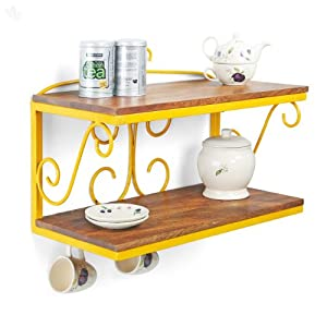 Wall Shelf Solid Wood & Iron - Daytona Zoso