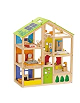 Hape-Wooden All Season House Furnished