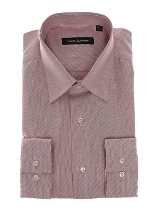 Pierre Clarence Camisa de manga larga (Blanco/Rosa)