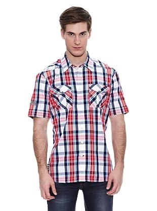 Camisa Lowndes (Coral / Azul Marino)