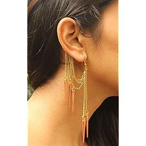 No Strings Attached Spike Tassel Metallic Ear Cuff